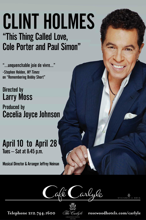Clint Holmes at Cafe Carlyle